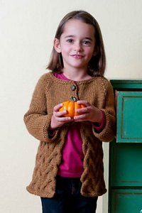 Berroco Vintage Chunky Fabled Cardigan Kit - Baby and Kids Cardigans