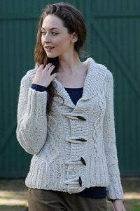 Plymouth Baby Alpaca Grande Tweed Livingstone Cardigan Kit - Women's Cardigans