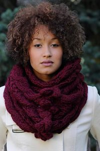 Blue Sky Bulky Bobble and Eyelet Cowl Kit - Scarf and Shawls