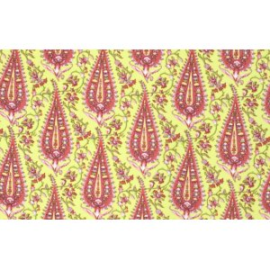 Amy Butler Love Flannel Fabric - Cypress Paisley - Lime