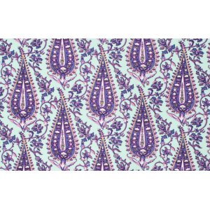 Amy Butler Love Flannel Fabric - Cypress Paisley - Mint