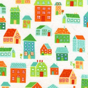 Erin McMorris Irving Street Flannel Fabric - Neighborhood - Orange