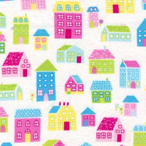 Erin McMorris Irving Street Flannel Fabric - Neighborhood - Pink