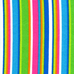 Erin McMorris Irving Street Flannel Fabric - City Stripe - Blue