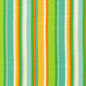 Erin McMorris Irving Street Flannel Fabric - City Stripe - Green