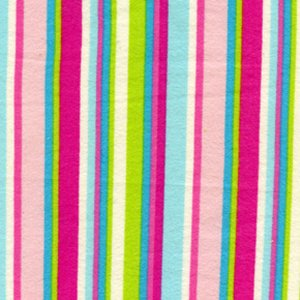 Erin McMorris Irving Street Flannel Fabric - City Stripe - Pink