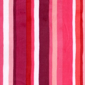 Valori Wells Urban Flannels Fabric - Stripe - Pink