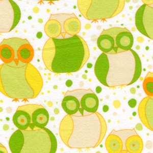 Valori Wells Della Flannel Fabric - Little Owls - Sun