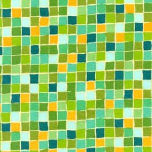 Valori Wells Della Flannel Fabric - Squares - Grass
