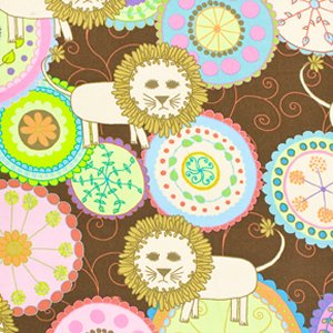 Valori Wells Bliss Flannel Fabric - Lions - Multi