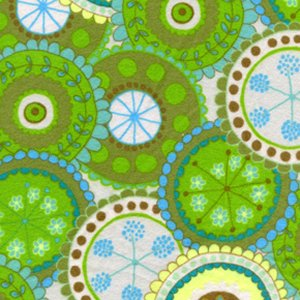 Valori Wells Bliss Flannel Fabric - Medallion - Green