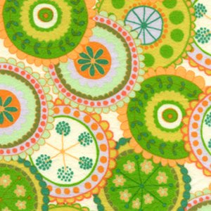 Valori Wells Bliss Flannel Fabric - Medallion - Sun