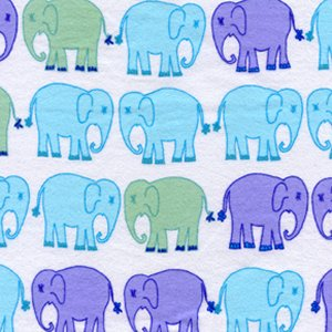 Valori Wells Bliss Flannel Fabric - Elephant March - Ocean