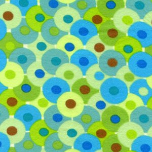 Valori Wells Bliss Flannel Fabric - Circles - Green