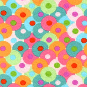 Valori Wells Bliss Flannel Fabric - Circles - Multi