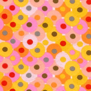 Valori Wells Bliss Flannel Fabric - Circles - Ruby
