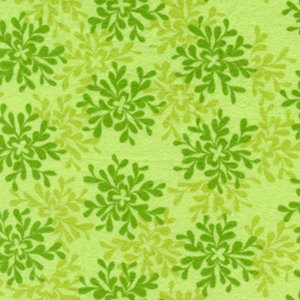 Valori Wells Bliss Flannel Fabric - Leaves - Green