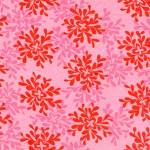 Valori Wells Bliss Flannel Fabric - Leaves - Ruby
