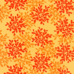 Valori Wells Bliss Flannel Fabric - Leaves - Tangerine