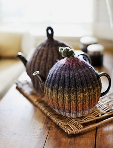 Noro Kureyon Ribbed Tea Cozies Kit - Home Accessories