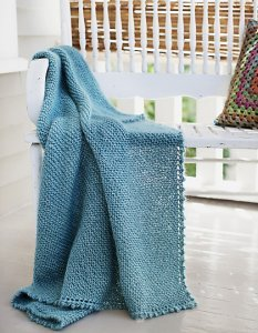 Blue Sky Alpaca Silk and Rowan Kidsilk Haze Picot Edge Mohair Throw & Afghan Kit - Home Accessories