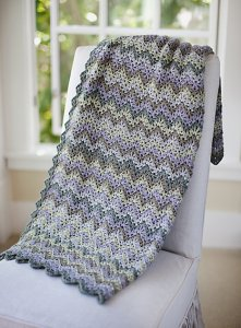 Cascade 220 Heathers Vintage Crocheted Throw and Afghan Kit - Crochet for Home