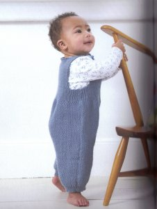 Debbie Bliss Baby Cashmerino Seed Stitch Overalls Kit - Baby and Kids Accessories
