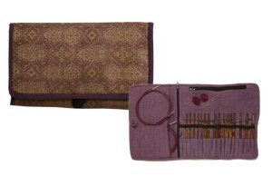 Knitter's Pride Fabric Interchangeable Needle Case - Violet Dream