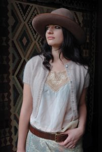 Rowan Kidsilk Haze and Fine Lace Moonstone Sweater Kit - Women's Cardigans