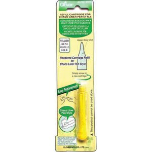 Clover Chaco Liner Pen Chalk Refill - Yellow