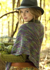 Lorna's Laces Lion and Lamb Textured Shawl Kit - Scarf and Shawls