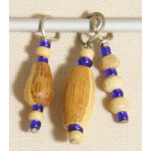 Knitter's Pride Zooni Stitch Markers - Royal Wood