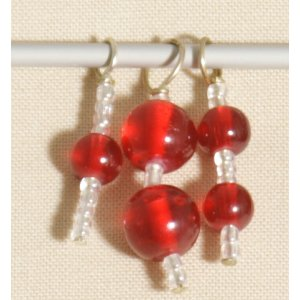 Knitter's Pride Zooni Stitch Markers - Ruby Red