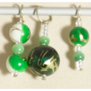 Knitter's Pride Zooni Stitch Markers - Golden Green