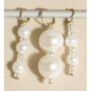 Knitter's Pride Zooni Stitch Markers - Shiny Pearl