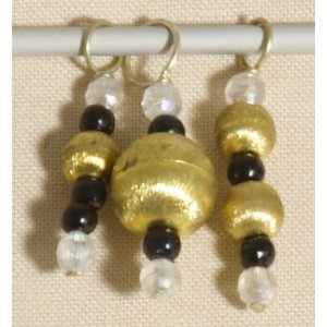 Knitter's Pride Zooni Stitch Markers - Golden Thread