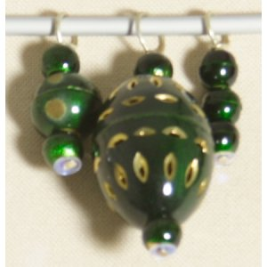 Knitter's Pride Zooni Stitch Markers - Pine Green