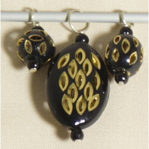 Knitter's Pride Zooni Stitch Markers - Black Gold
