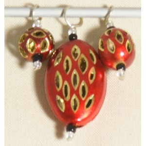 Knitter's Pride Zooni Stitch Markers - Red Gold