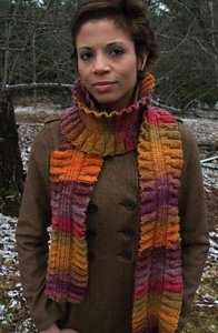 Classic Elite Liberty Wool or Liberty Print Molly Scarf Kit - Scarf and Shawls