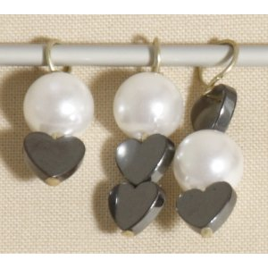 Knitter's Pride Zooni Stitch Markers - Pearl Heart
