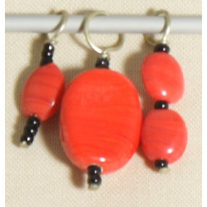 Knitter's Pride Zooni Stitch Markers - Real Red