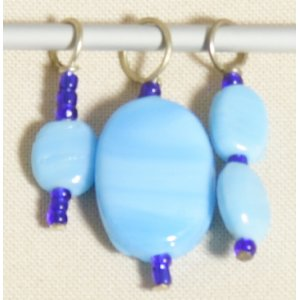 Knitter's Pride Zooni Stitch Markers - Blue Petal