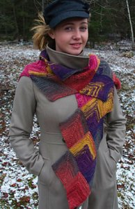 Classic Elite Liberty Print Martha Scarf Kit - Scarf and Shawls