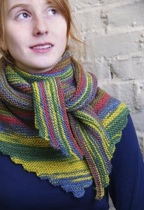 Classic Elite Liberty Print Garter Stitch Wrap Kit - Scarf and Shawls