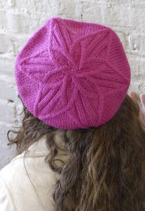 Classic Elite Liberty Wool and Print Cable Flower Hat Kit - Hats and Gloves