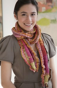 Classic Elite Liberty Print Light and Shadow Scarf Kit - Scarf and Shawls