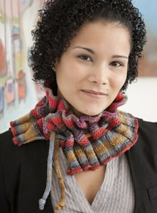 Classic Elite Liberty Print Gamut Glow Neckwarmer Kit - Scarf and Shawls