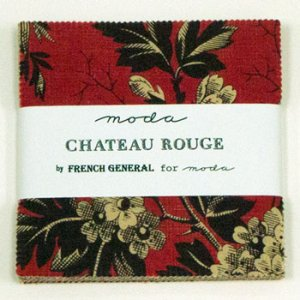 French General Chateau Rouge Precuts Fabric - Charm Pack