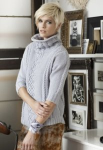 Bergere de France Origin Merinos Cabled Pullover  Kit - Women's Pullovers
